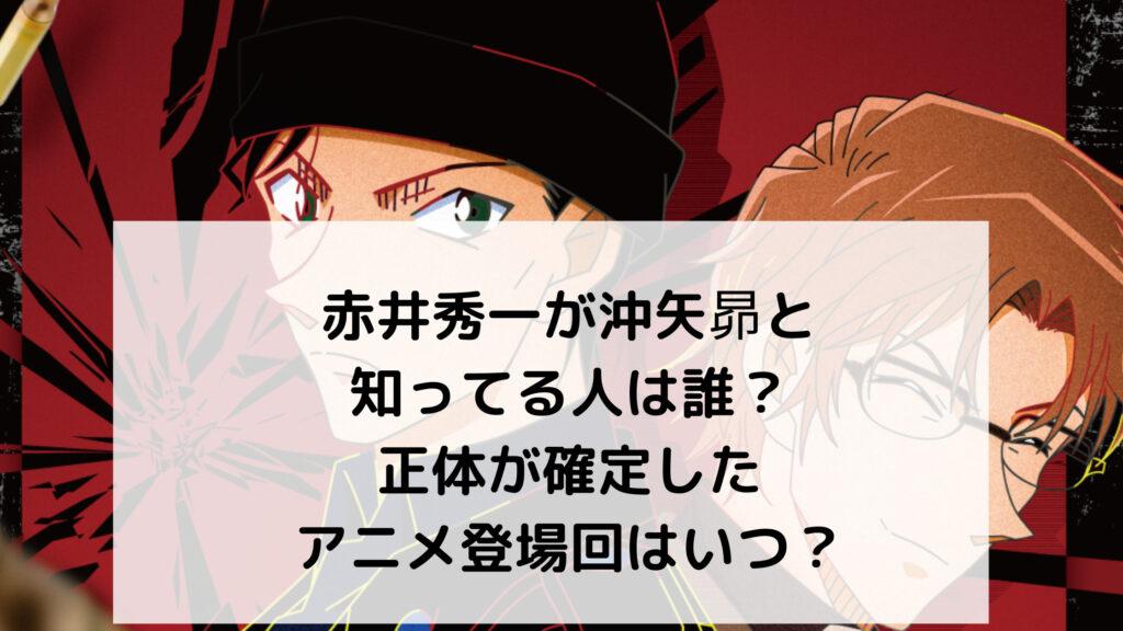 赤井秀一が沖矢昴と知ってる人は誰?正体が確定したアニメ登場回はいつ?